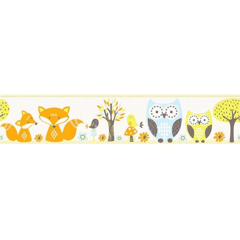 Cenefa papel pintado esprit kids 3 as creati n dise o animales bosque - Papel pintado y cenefas ...