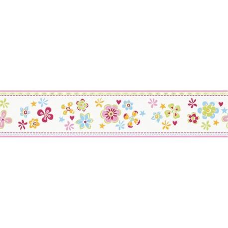 Cenefa papel pintado esprit kids 3 as creati n con flores estrellas - Cenefas decorativas infantiles ...