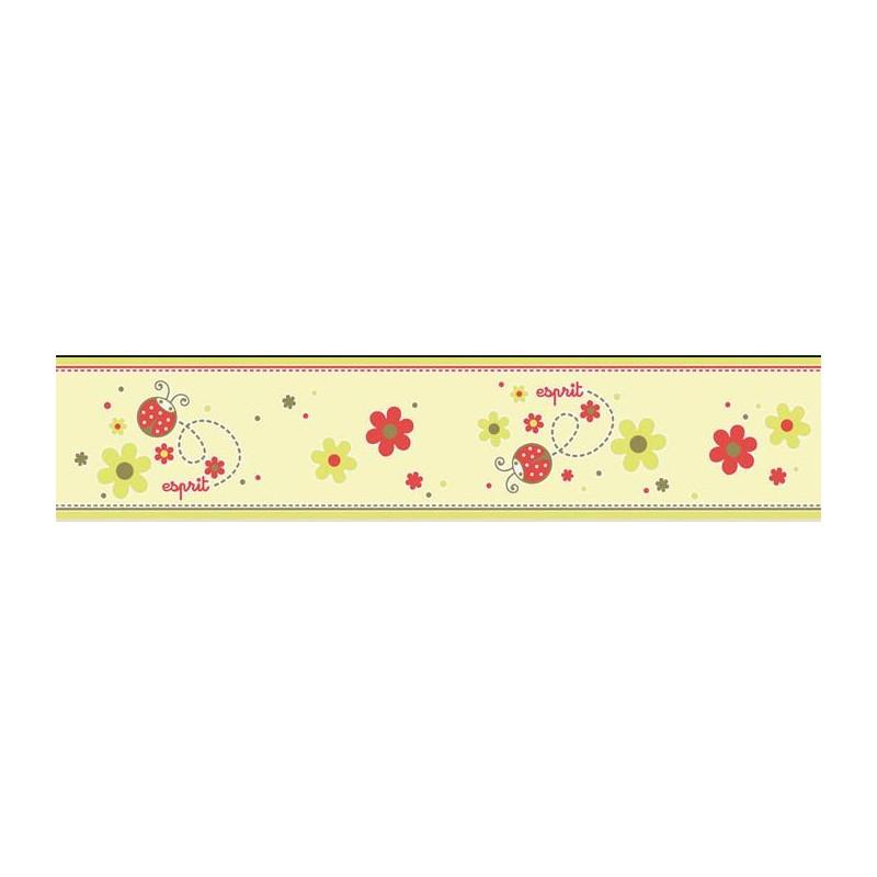 Cenefa papel pintado esprit kids 3 as creati n con flores for Cenefas papel pintado
