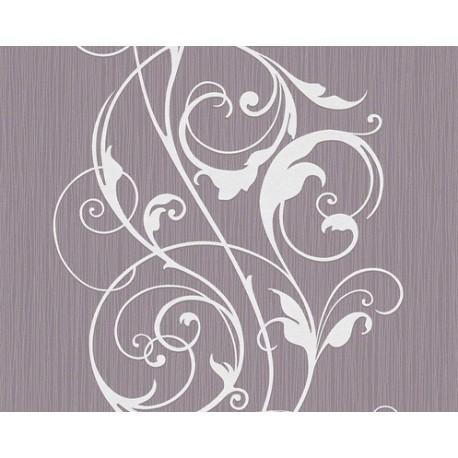Papel pintado selina dise o grandes ramajes en blanco for Papel pintado diseno