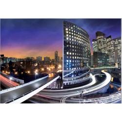 Fotomural vista aera ciudad noche 161 Decoas
