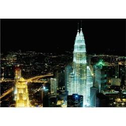 Fotomural luces ciudad noche 276 Decoas.