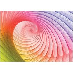 Fotomural laberinto hojas arco iris 307 Decoas