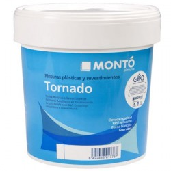 Tornado Montó pintura plástica blanca mate