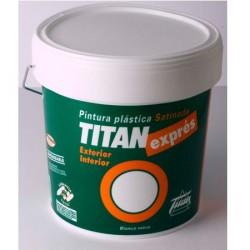 Pintura pl stica blanco satinado titan expres uso interior y exterior - Pintura plastica interior ...