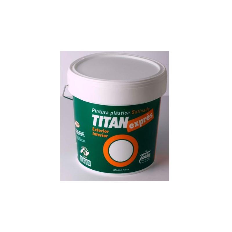 Pintura pl stica blanco satinado titan expres uso interior - Pintura plastica satinada ...