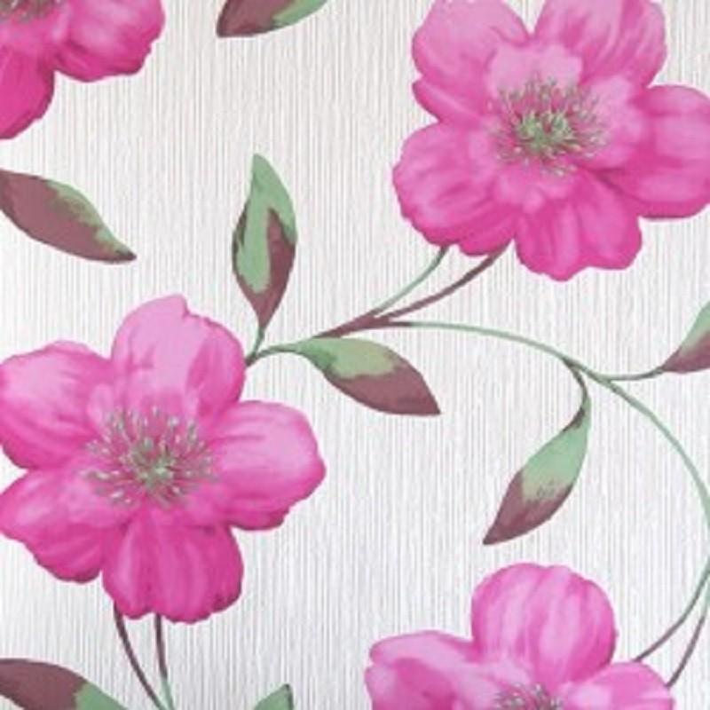 Papel pintado kinetic de parati dise o grandes flores en for Papel pintado fucsia
