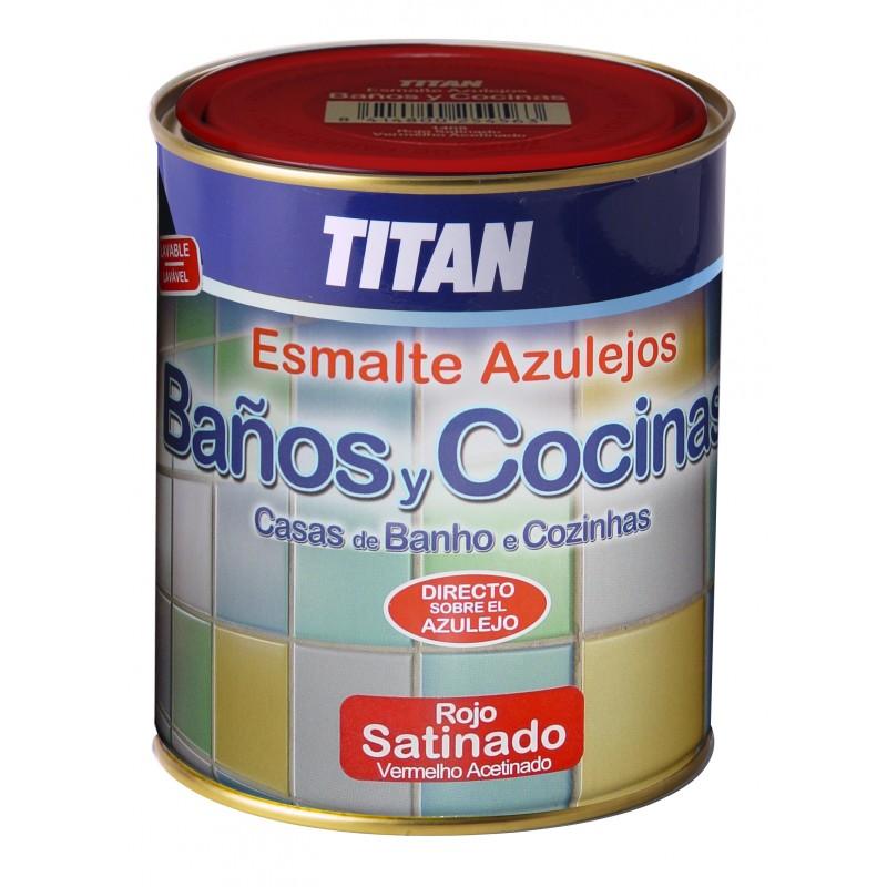 Esmalte satinado especial para pintar azulejos titan ba os for Pintura especial para cocinas