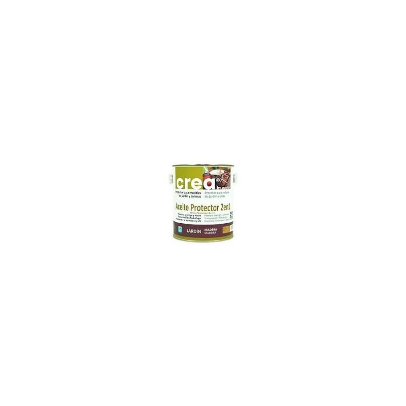Aceite protector 2en1 para muebles jardin y tarimas linea Crea Montó
