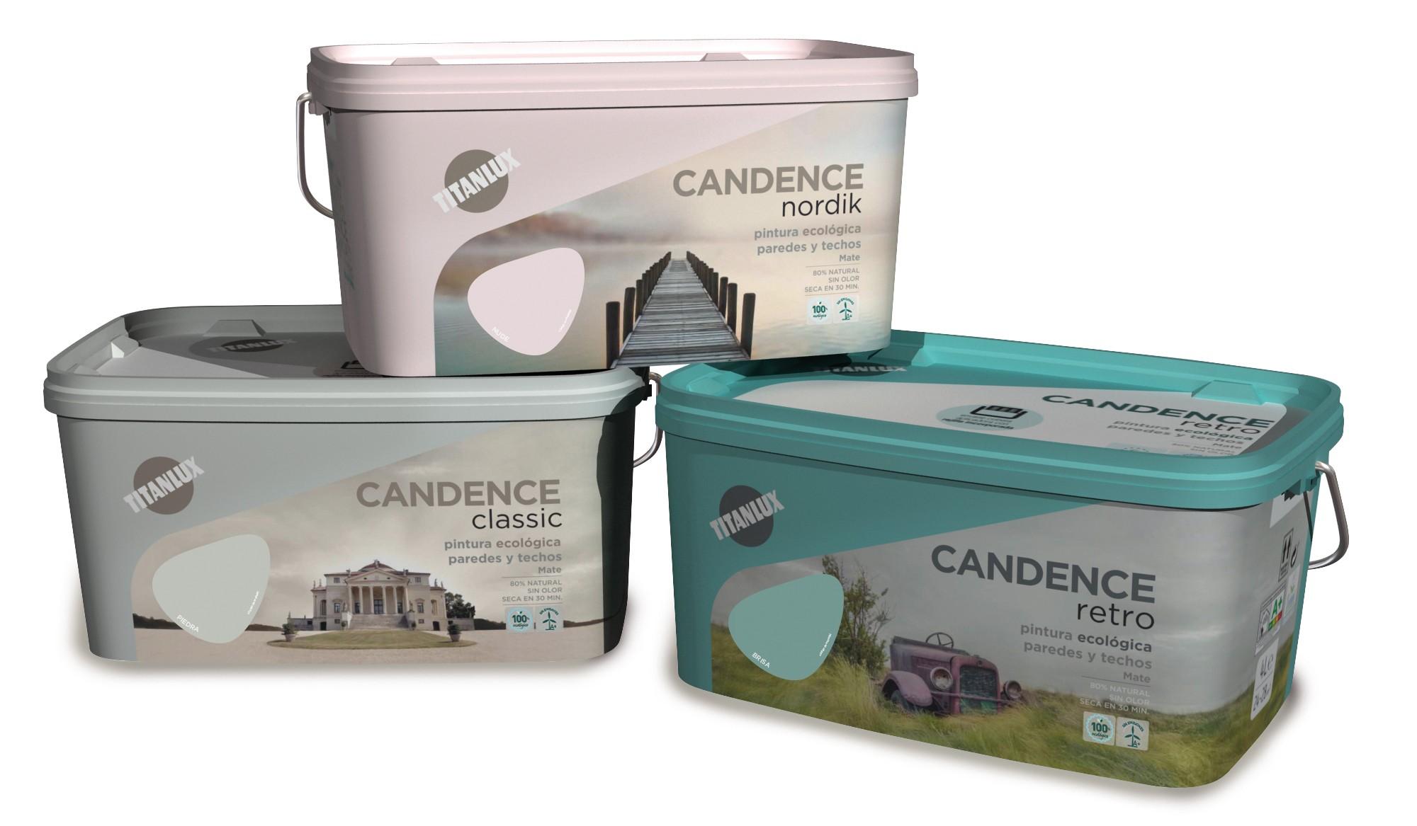 Pintura plástica interior Candance con 22 colores tendencia en cubeta
