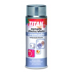 Esmalte efecto cromado en spray Titan