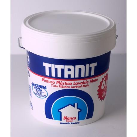 Pintura pl stica color blanco acabado mate uso interior titanic titan - Pintura plastica interior ...