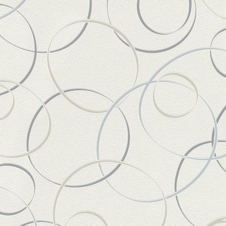 papel pintado c rculos ecl pticos en azul beige gris