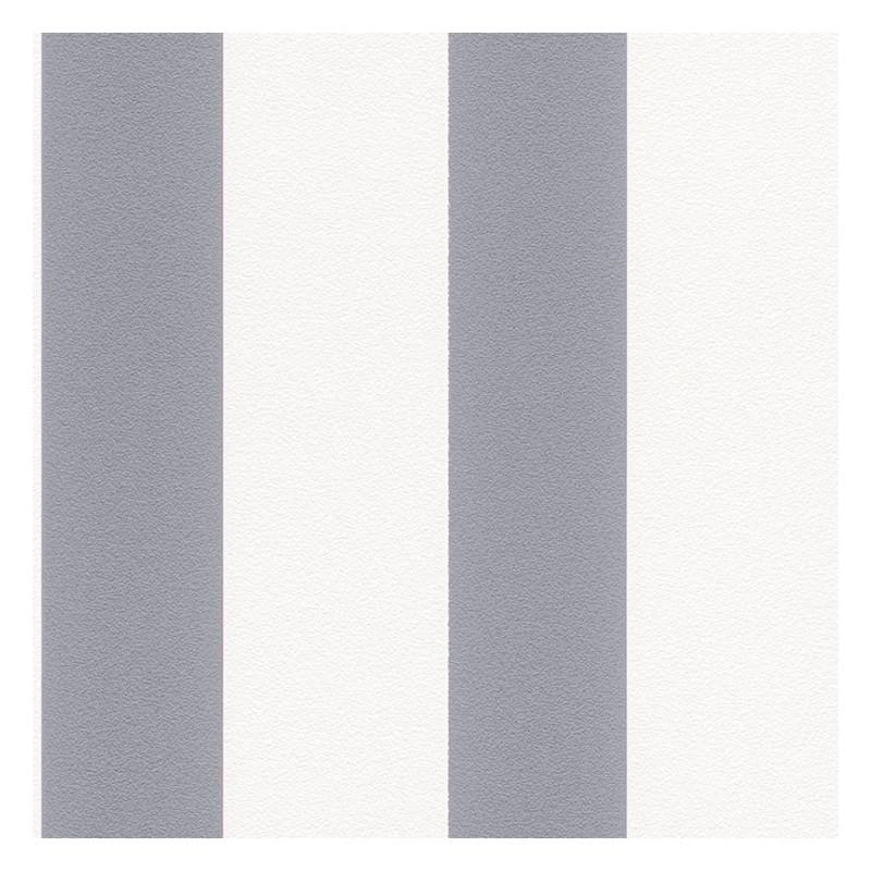 Papel pintado rayas anchas en gris medio y blanco textura for Papel pintado blanco y gris