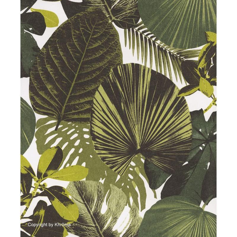 Papel pintado hojas grandes en color verde oxygen for Papel pintado hojas