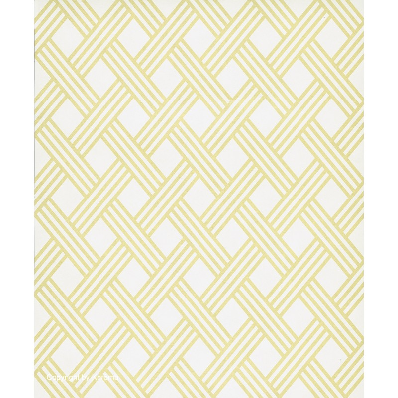 Papel pintado dise o nordico de rombos en amarillo oro y - Vendo restos de papel pintado ...