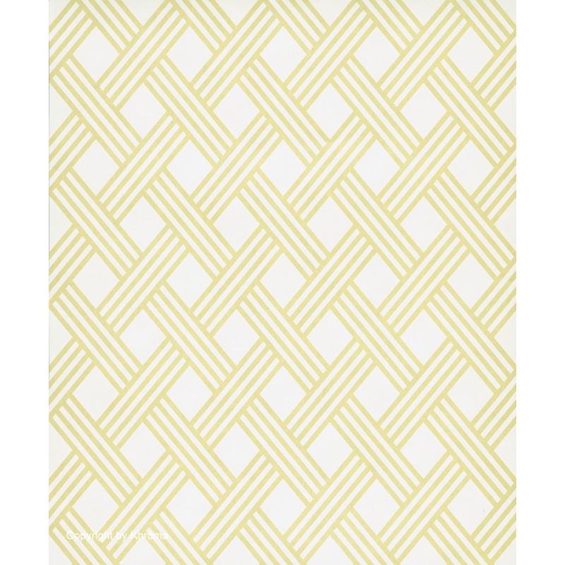 Papel pintado dise o nordico de rombos en amarillo oro y for Modelos de papel pintado