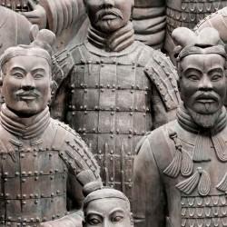 Papel pintado guerreros xian Colección Cariati