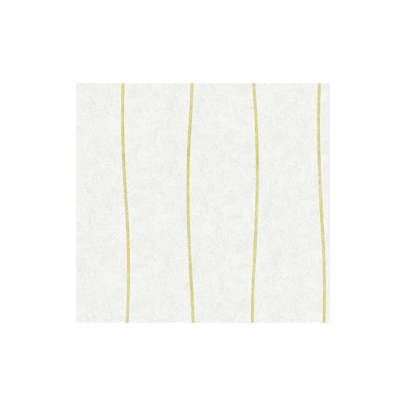 Papel pintado rayas ondulantes en amarillo y blanco - Papel pintado tropical ...