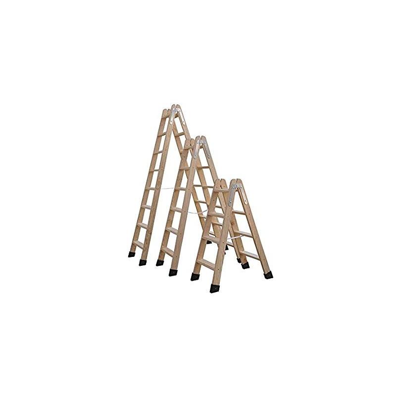 Escalera madera pelda os planos zapata seguridad trabajos - Peldanos escalera madera ...