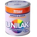 Unilak Titanlux esmalte-laca al agua acabado satinado.