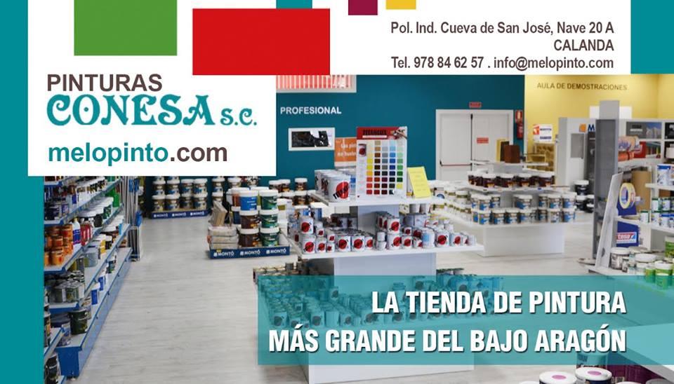 La tienda de pintura más grande del Bajo Aragón