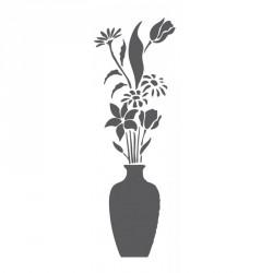 Plantillas estarcido jarrón con flores FXL 433