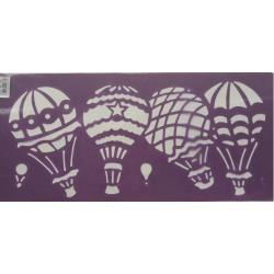 Plantillas cenefa estarcido globos 063