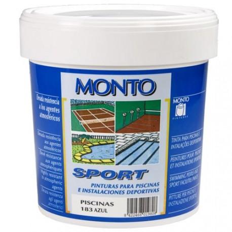Pintura al agua para piscinas Monto Sport .