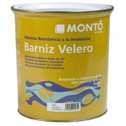Barniz Velero Montó incoloro de alto brillo.