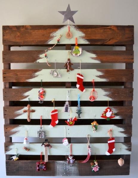 Árboles de navidad con pintura