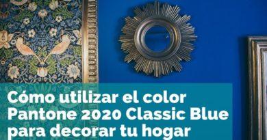 Cómo utilizar el color Pantone 2020 Classic Blue para decorar tu hogar